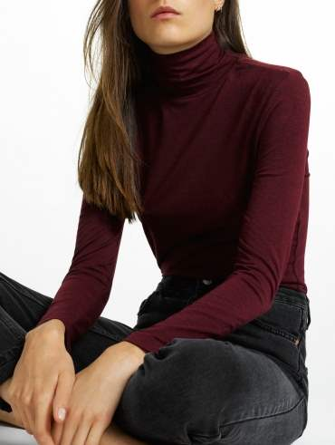 Modal Cotton Scrunchneck