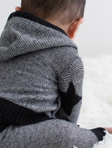 Cashmere Star Patch Baby Cardigan + Legging
