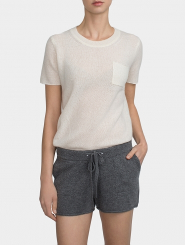 Cashmere Drawstring Short