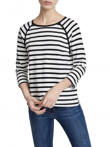 Combed Cotton Raglan Top