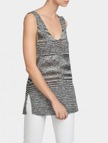 Wrapped Cotton Side Slit Tunic