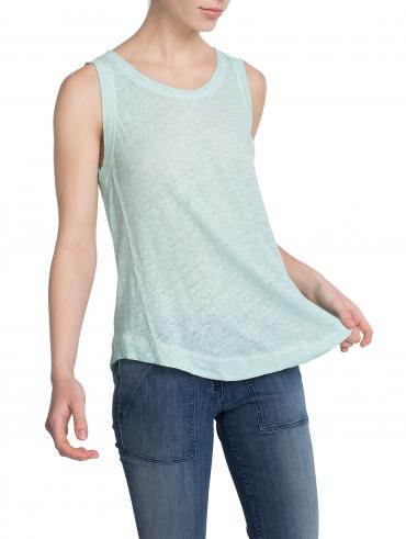 Linen Shirtail Tank